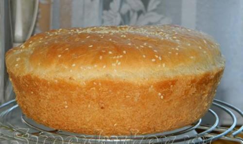 Хлеб домашний из пшеничной муки