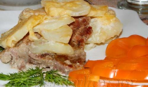 Мясо по-французски с картофелем в мультиварке