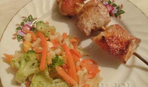 Куриные шашлычки в духовке