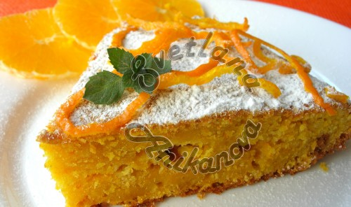 Апельсиновый пирог «Краски осени»