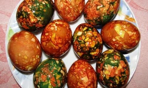 Мраморные и малахитовые яйца к Пасхе